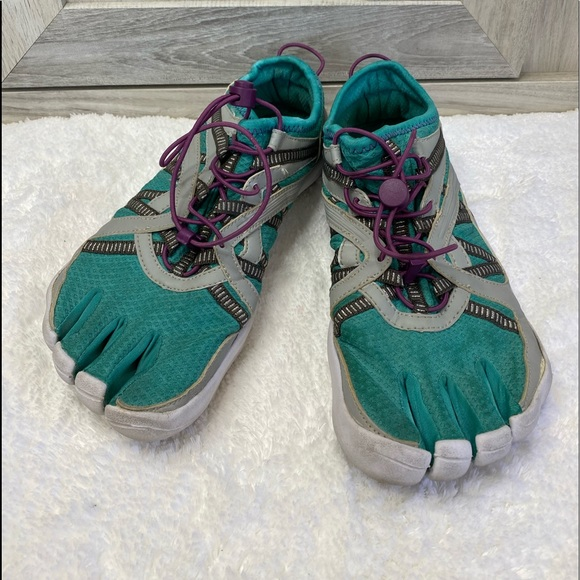 Fila Skele-toes Size 9 Hiking Water Shoes Blu/Gry